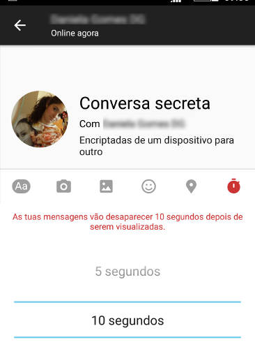 conversas secretas do facebook