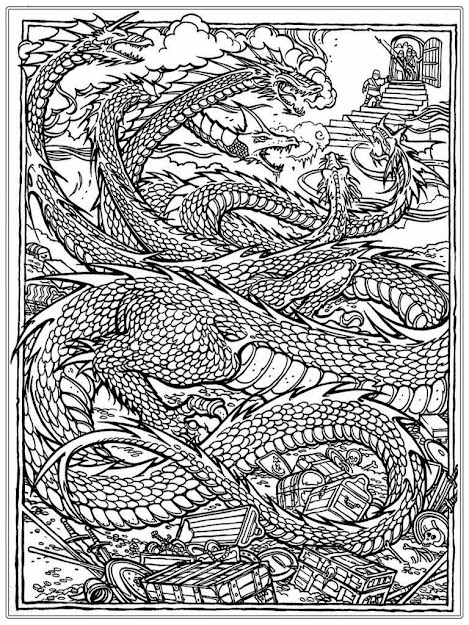 Adults Chinese Dragon Adult Coloring Pages Realistic Coloring Pages