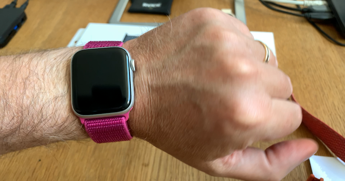 Dragon Fruit Sport Loop Watch Band from Apple for the Apple Watch
