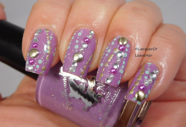UberChic Beauty 8-02 over Spellbound Nails Dammit Janet