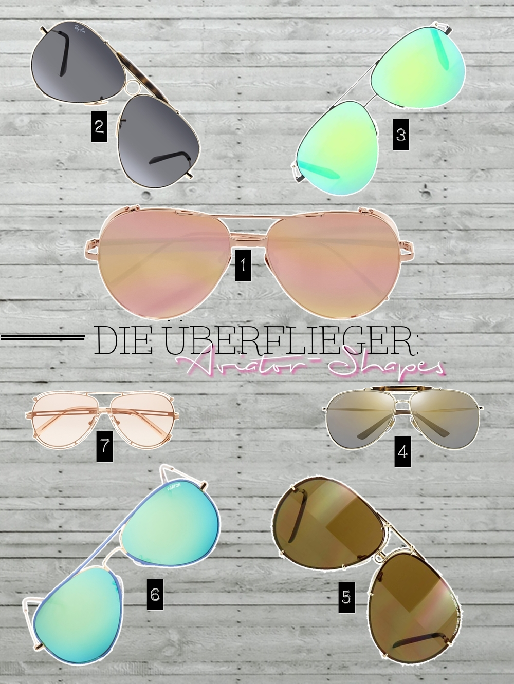 TREND REPORT: Power Glasses - Sunglasses SS16 Aviator-Shapes by fashion blogger  Annie K. - Annies Beauty House
