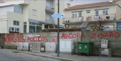 Fotografia da passagem de nível da Travessa do Teatro em Vila Praia de Âncora