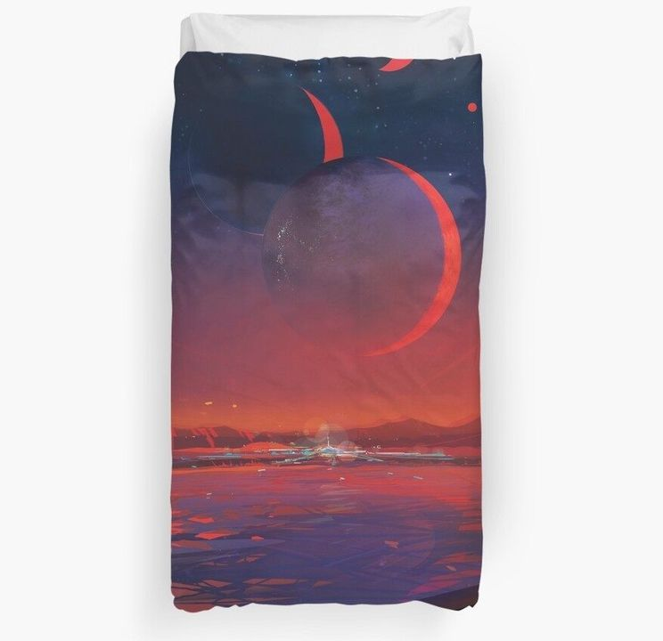Most Habitable Nearby Exoplanet Duvet Cover