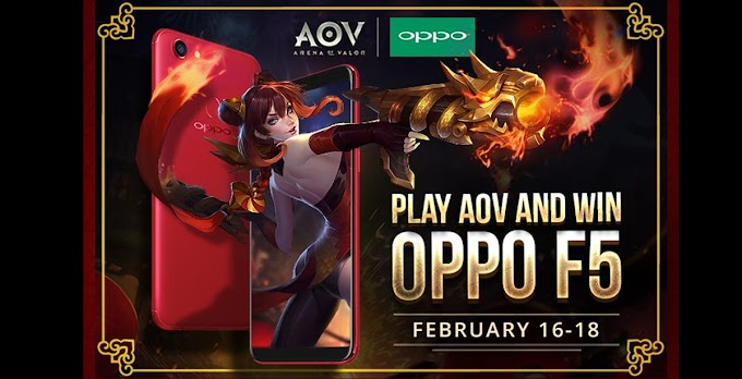 Conquer AOV And Get A Chance To Win An OPPO F5