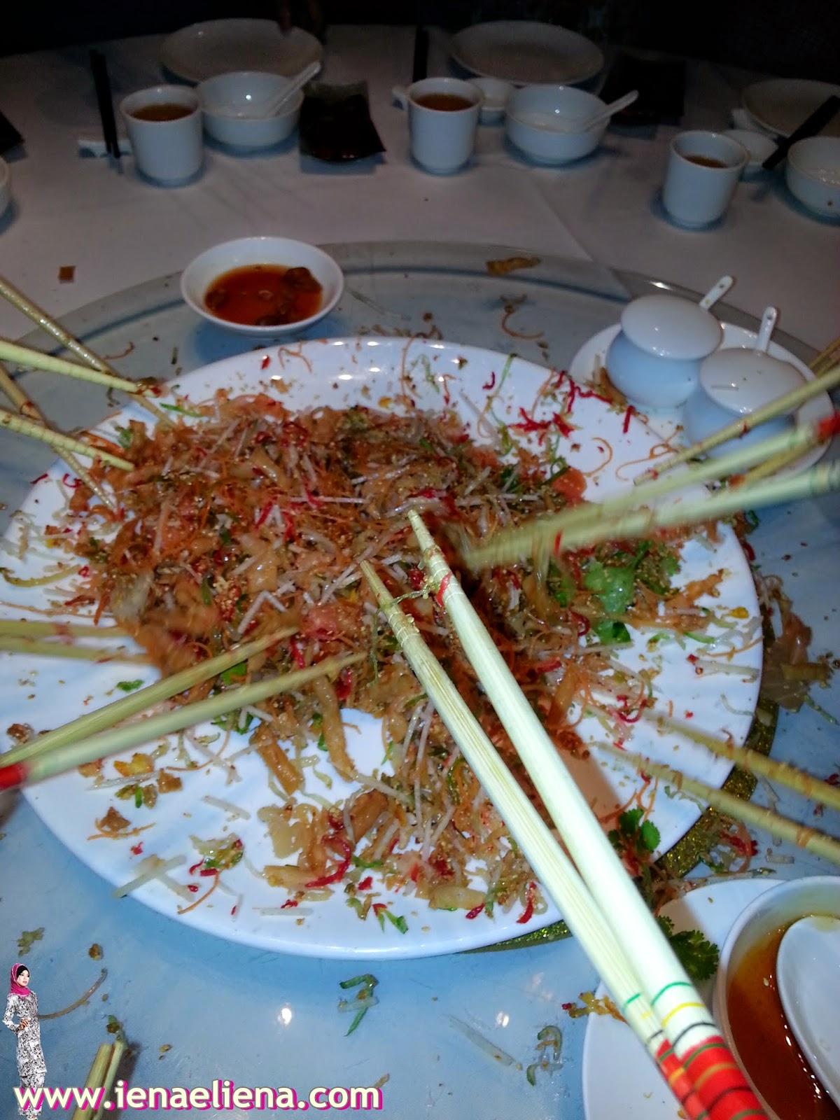GLOBALTIUM CNY DINNER AT SRING GARDEN KLCC - Lou Sang !
