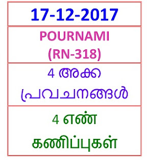 17-12-2017 4 NOS Predictions POURNAMI (RN-318)