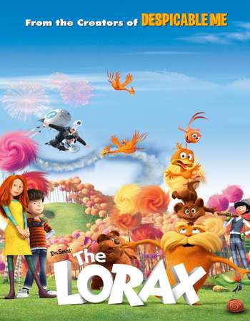 Poster Of The Lorax 2012 Dual Audio 300MB BRRip 480p Free Download Watch Online Worldfree4u