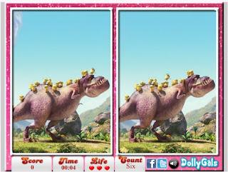 http://www.jogosparamenina.net/jogo/minions-e-dinossauros-encontrar-erros/