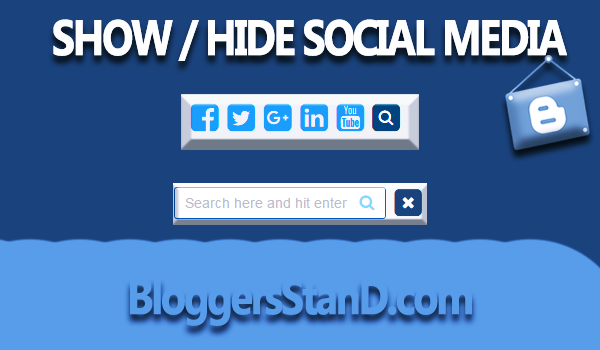 New Show/Hide Social Share With Search Button For Blogger