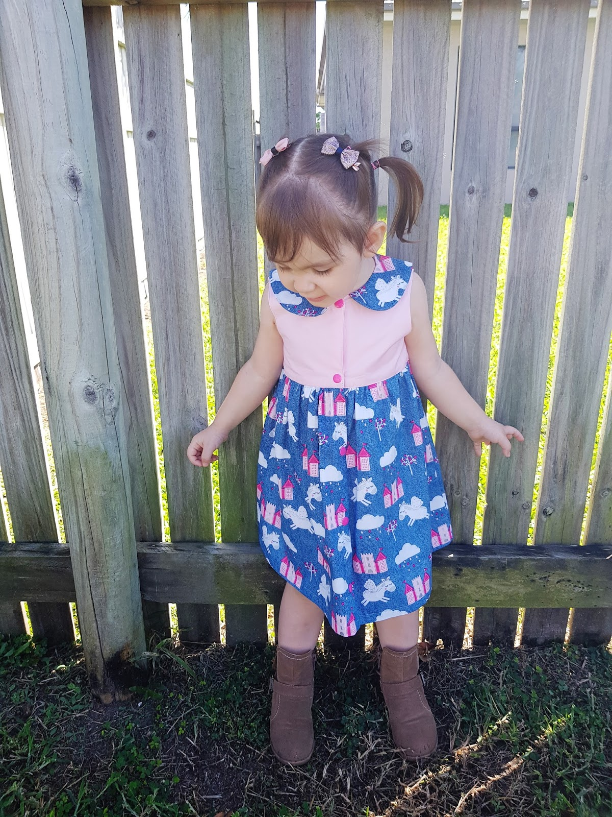 Sewing Patterns for Girls Dresses and Skirts Front Open Dress Top