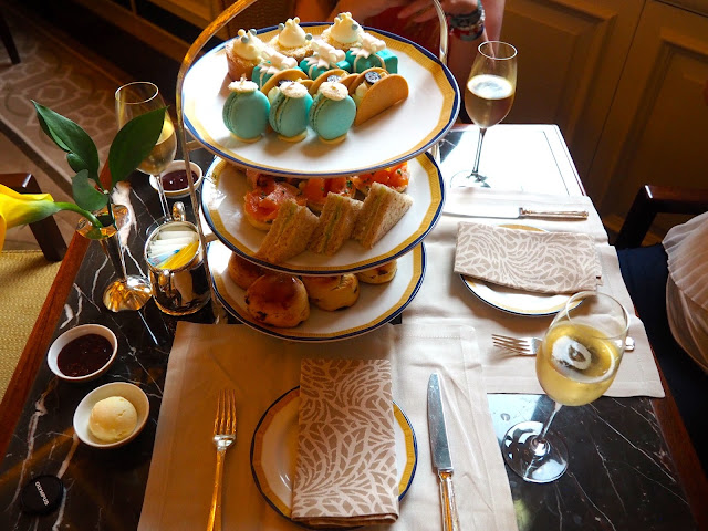 Afternoon tea with champagne served at The Peninsula, Hong Kong