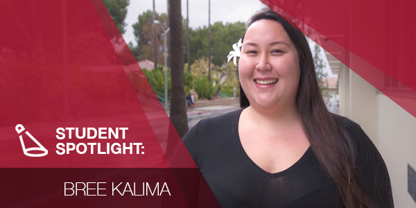 Student spotlight graphic with Bree Kalima