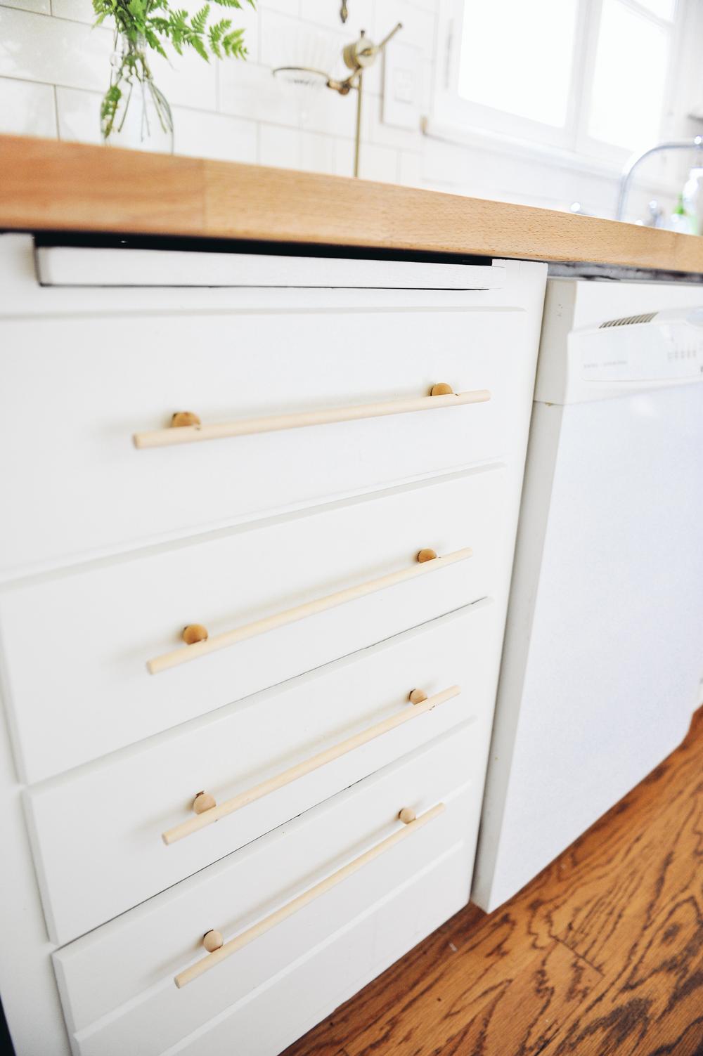 DIY Modern Wood Cabinet Pulls Hardware