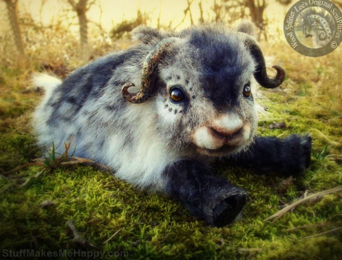 Outstanding Realistic Baby Animal Toys Made Out of Wool by Lee Cross