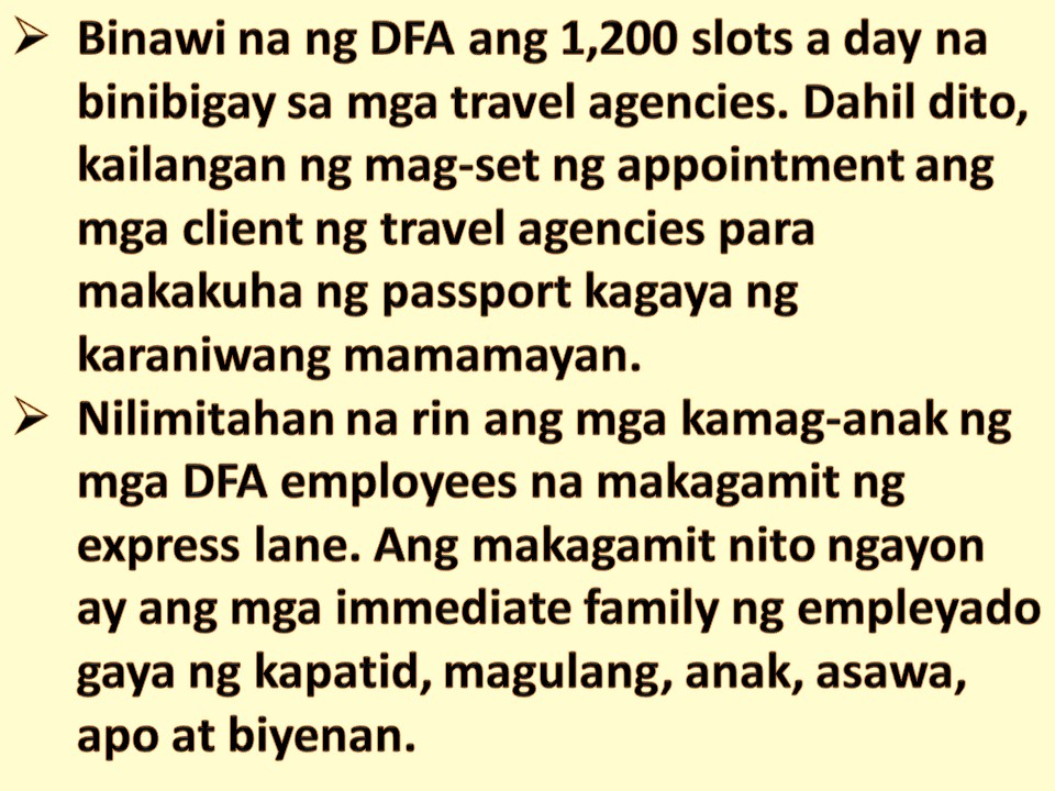First time OFWs? You Can Now Use DFA Express Lane for