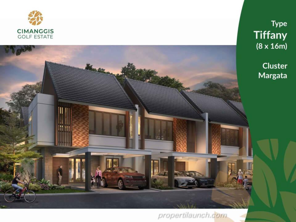 Rumah Cimanggis Golf Estate cluster Margata tipe TIFFANY