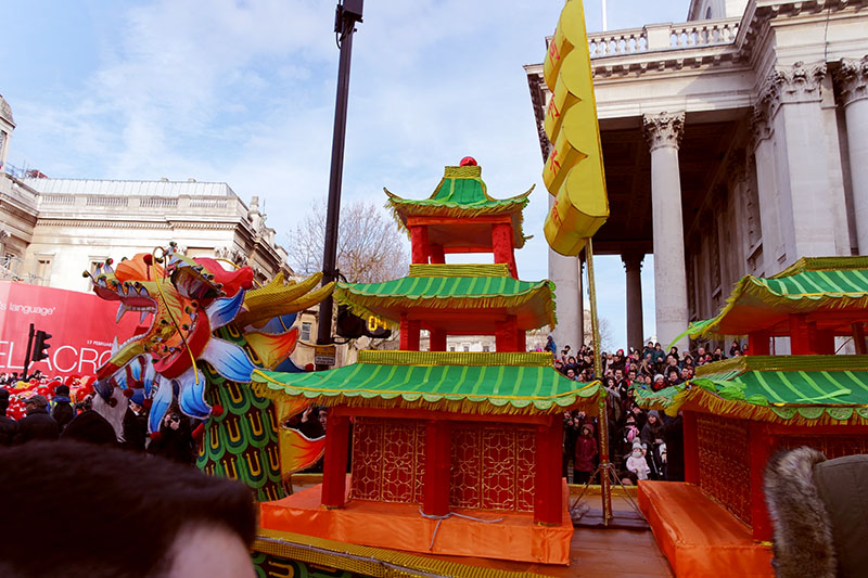 Chinese New Year, London, Trafalgar Square, Chinatown,celebrations, restaurant, parade, dragon, colourful
