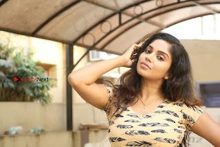 Telugu Actress Karunya Chowdary Stills in Short Dress at ATM Not Working Press Meet  0323.jpg
