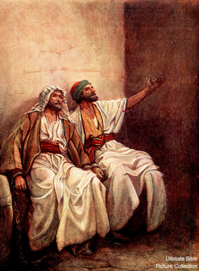 Today Lets Learn A Story About Paul And Silas Pictured Above Who Were Cast Into Prison For Preaching The Gospel Of Our Lord Jesus