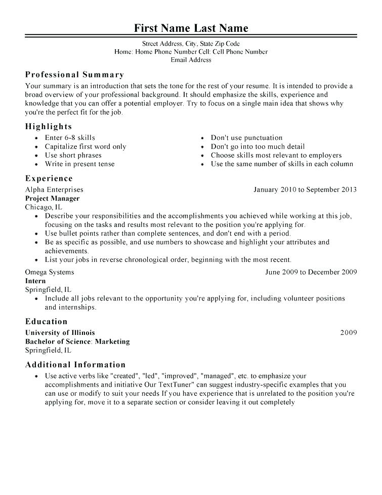 Perfect It Resume 2019 - Resume Templates