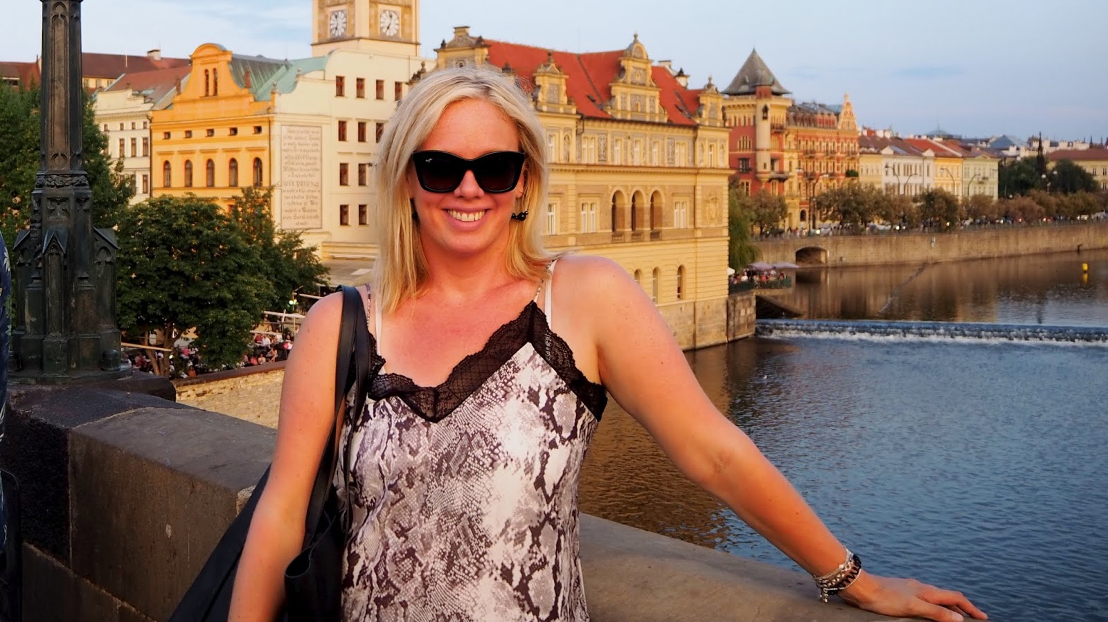Ashley Turner on Charles Bridge