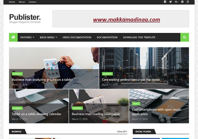 Publister Blogger Template Responssive