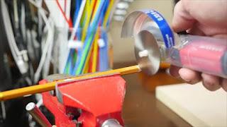 Tutorial Cara Membuat Gergaji Mini Dremel Sederhana dari Suntikan Printer