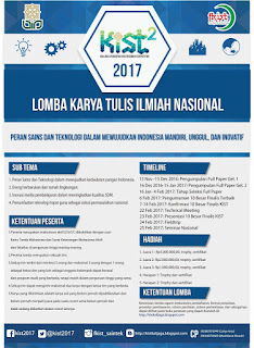 Lomba Karya Tulis Ilmiah Nasional KIST 2 (Kalijaga Innovation And Research Competition) 2016-2017