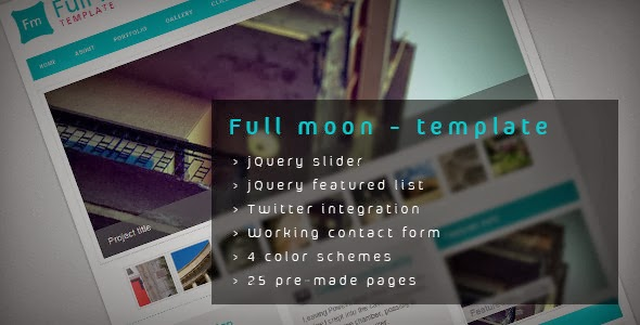 Themeforest Full moon - HTML Template FULL