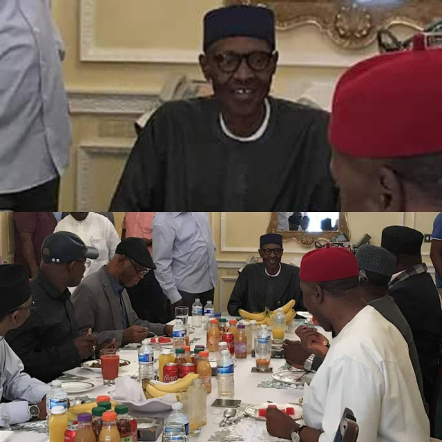 President Buhari dines with APC governors in London! THE BUHARI WE MET, BY GOV OKOROCHA