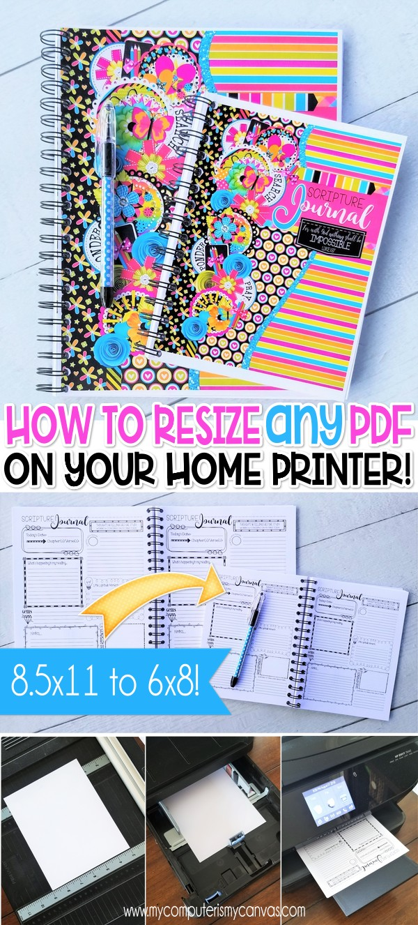 How to RESIZE A PDF & PRINT SMALLER @ Home! - My Computer is My Canvas
