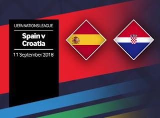 لعبة اسبانيا كرواتيا مباشر