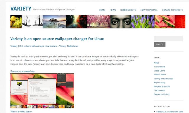 Variety, fondos de escritorio en tu Linux