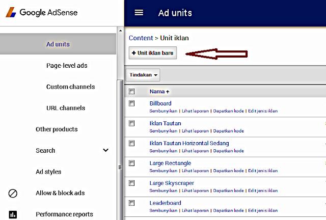 Cara Membuat Iklan Tautan Adsense (Ads Link) pada Blog