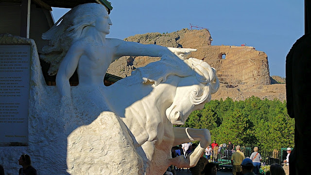 A view of the eventual Crazy Horse Memorial sculpture...