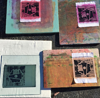 JWST, Sue Reno, Work in Progress, outdoor printmaking