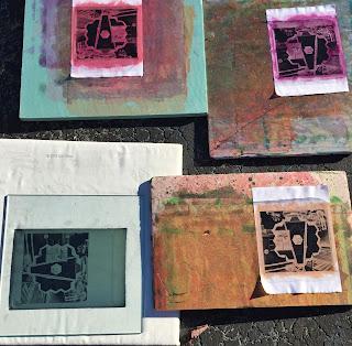 JWST, Sue Reno, Work in Progress, outdoor printmaking