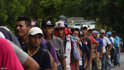 المهاجرين من المكسيك الى امريكا