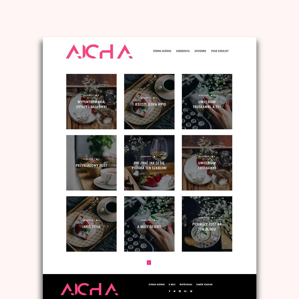 Kafelkowy motyw na bloggera (blogspota) AICHA!