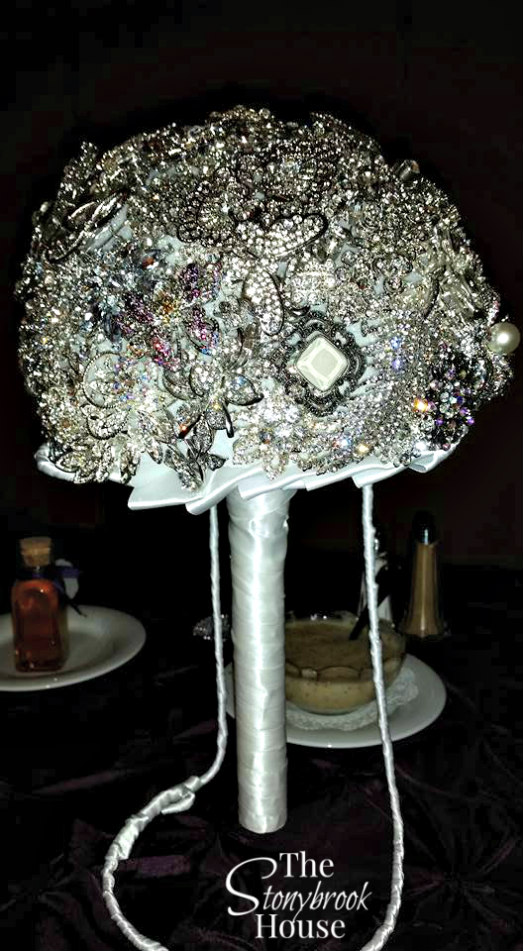 Brooch Bouquet Complete on Wedding Day