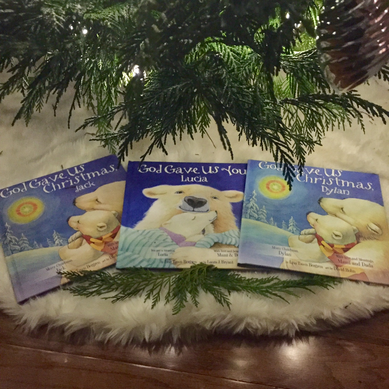 this holiday season lisa tawn bergrens beloved childrens books god gave us you and god gave us christmas can be transformed into personalized keepsakes