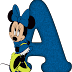 Abecedario de Minnie en Azul. Minnie in Blue Alphabet.