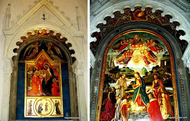 Pinturas pré-renascentistas na Igreja de São Francisco, em Fiésole, Toscana