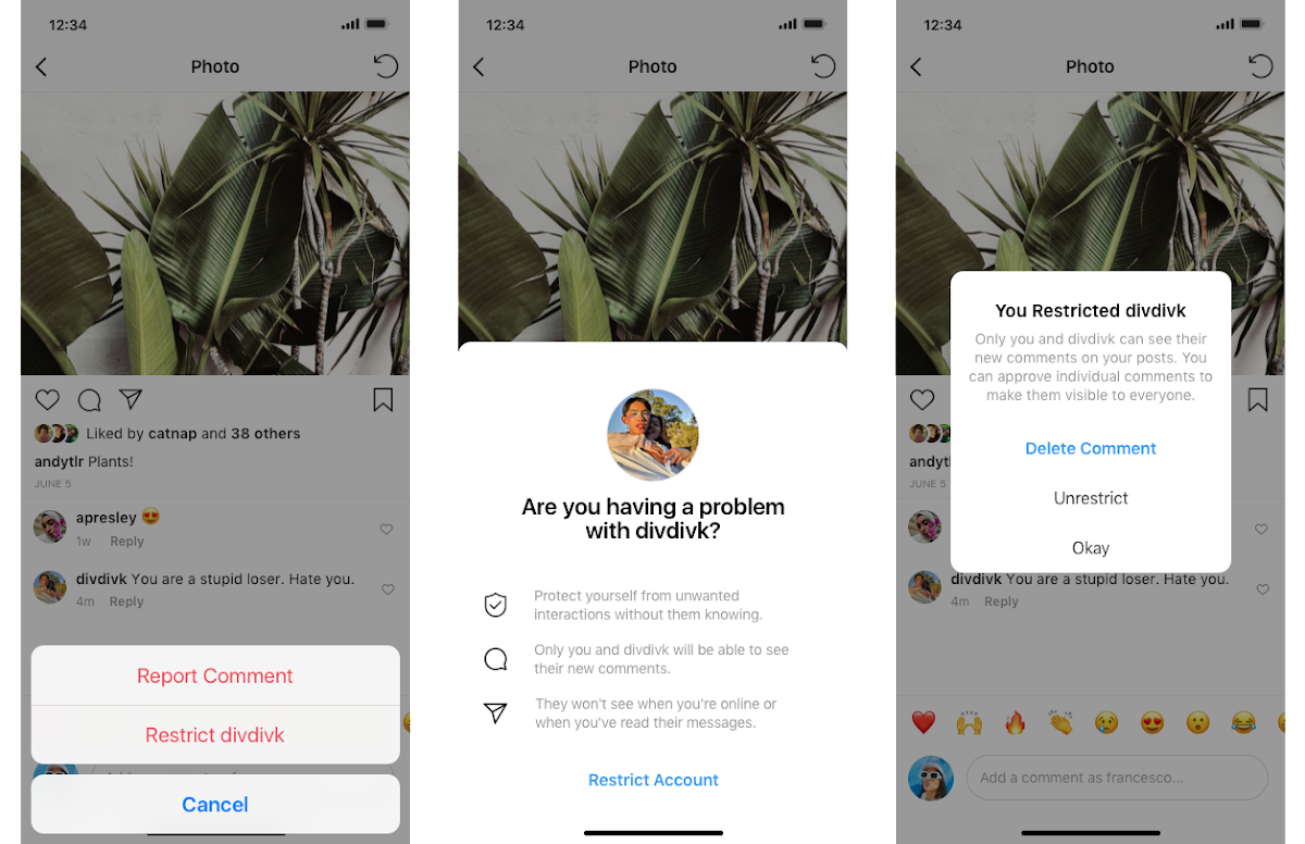 Instagram Introducing A new Protection For Your Account From Unwanted Interactions With Restrict Feature