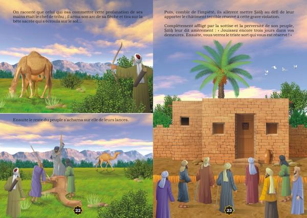 L'histoire du prophète Salih et le miracle de la chamelle.