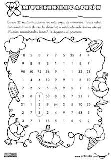 Tablas de multiplicar: fichas para colorear y jugar - Aula ...