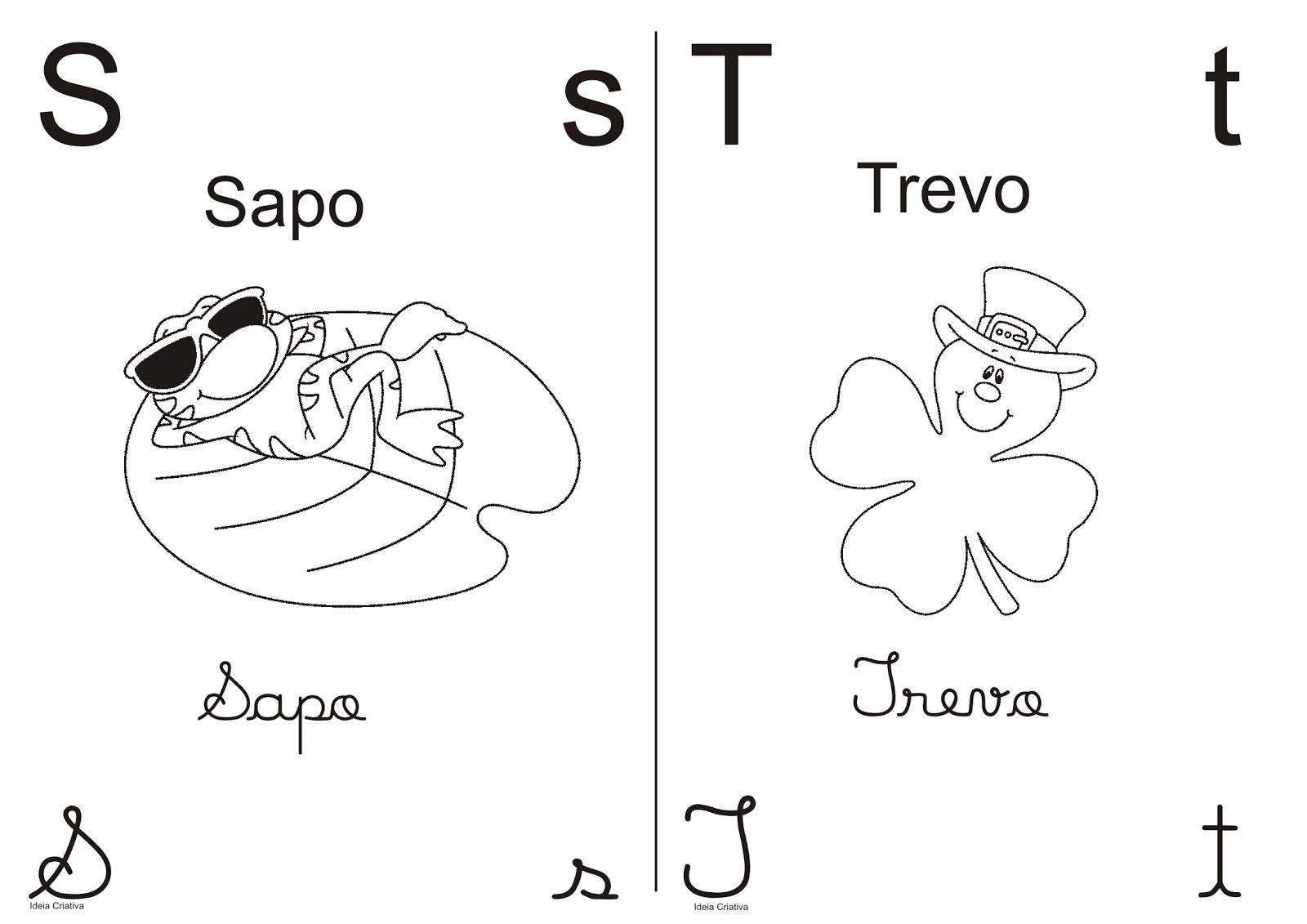 Alfabeto Pra Colorir Meio Oficio Letra Bastao E Cursiva