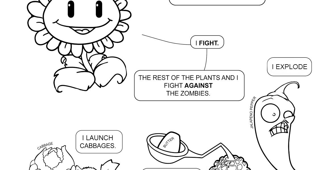 Páginas para colorear originales Original coloring pages: Plants vs ...
