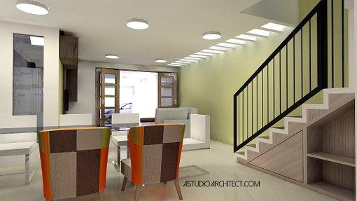 Sedangkan desain interior juga ditata dengan konsep modern yang mementingkan keterbukaan dimana keluarga bisa beraktivitas bersama di lantai bawah. & a: Rumah lahan sempit 5x15m2 dengan kolam renang [desain siap ...