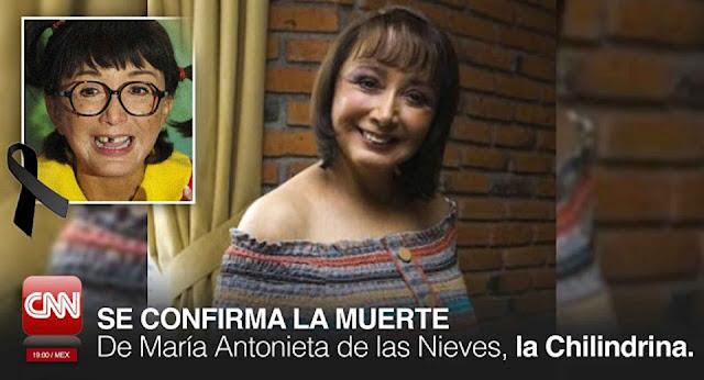 """""""La Chilindrina"""" Falleció Esta Mañana a los 65 Años de Edad."""